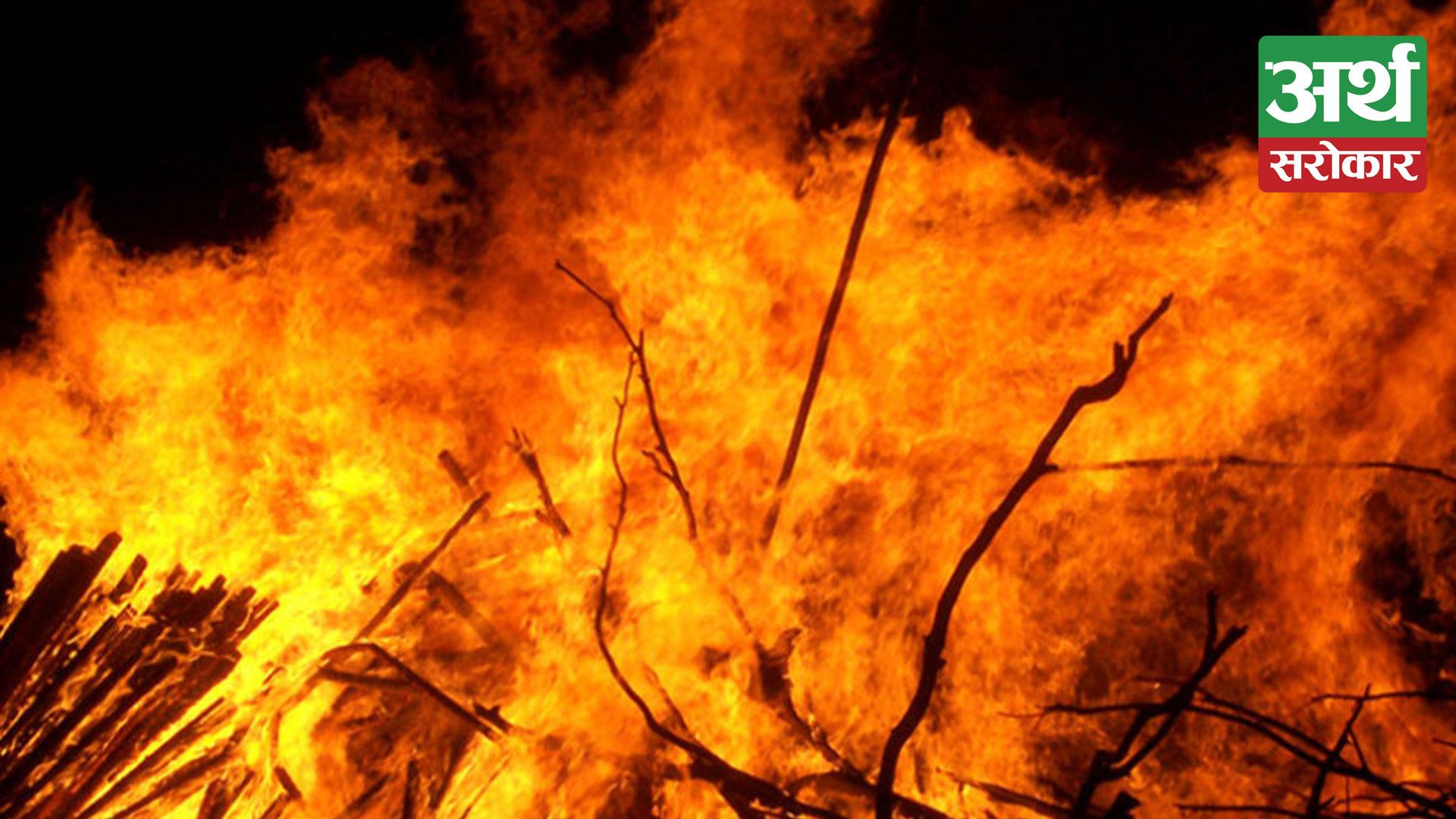 Fire destroys six houses in Kalikot
