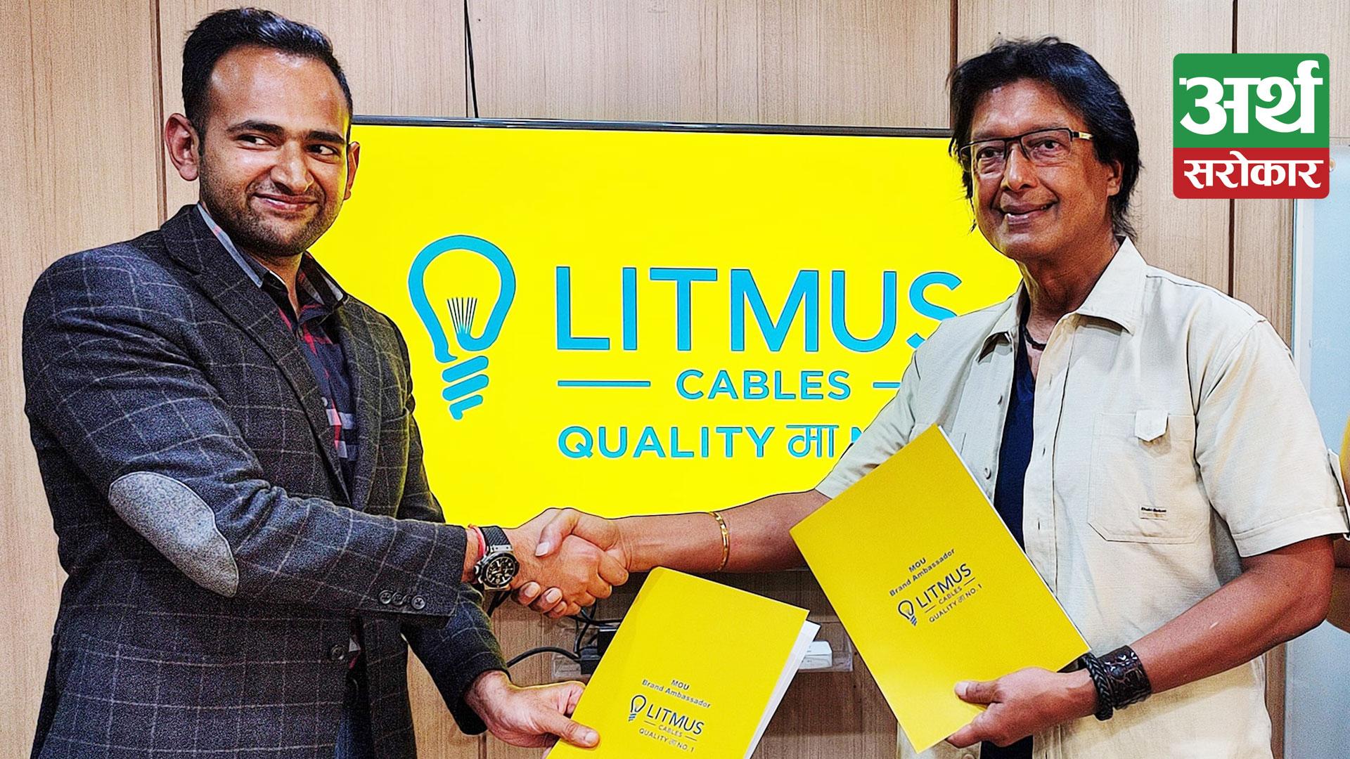 Litmus Cables signs Superstar Rajesh Hamal & Madhu Hamal Bhattarai as Brand Ambassador