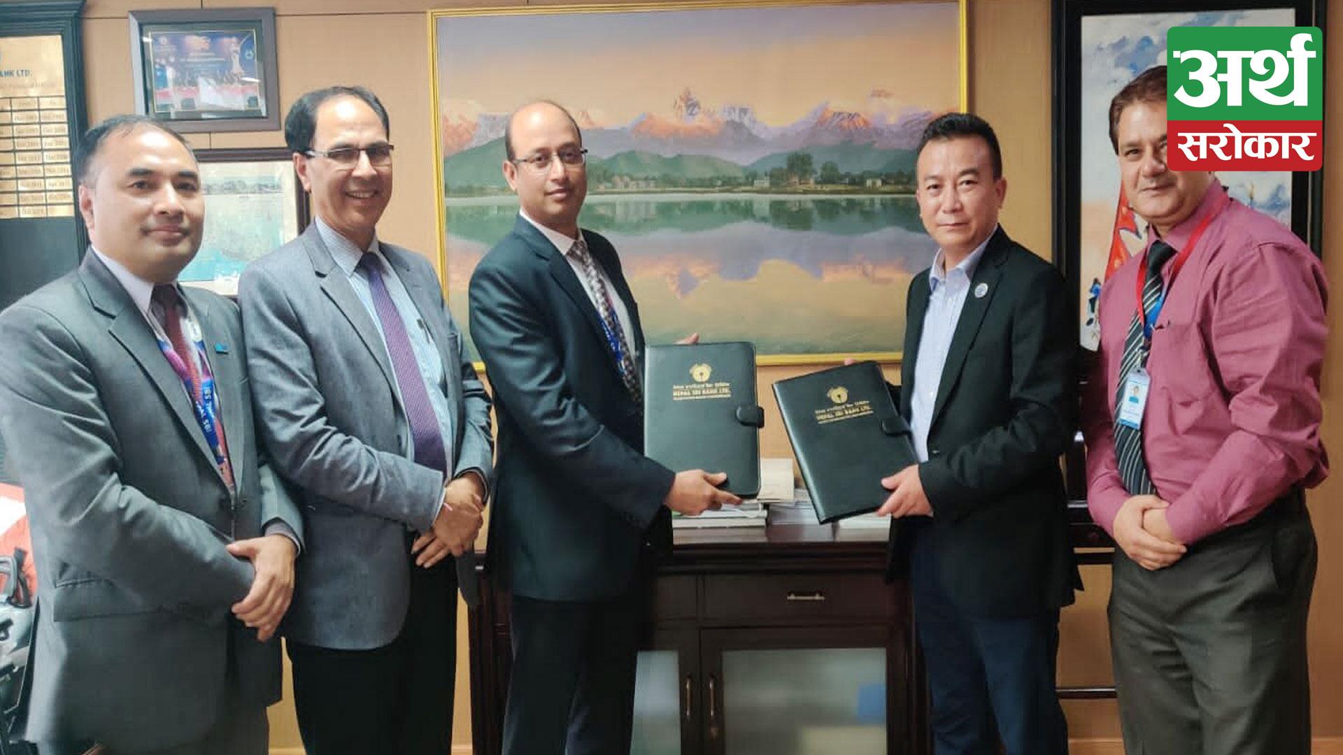 Nepal SBI Bank Ltd. enters into an agreement with Pokhara Finance Ltd.